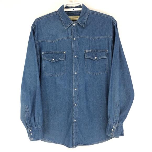0de57e1c Bit & Bridle Shirts   Bit Bridle Denim Western Pearl Snap Shirt ...
